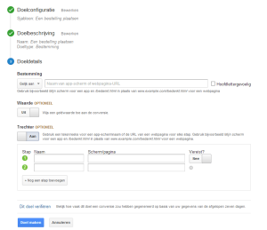Google Analytics - funnel