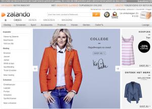 landingspagina - Damesmode online shop ZALANDO